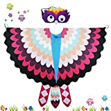 Toddler Kids Fairy Bird Costume Owl Wings with Mask Feathered- Boys Girls Animal Dress-up Party Favors
