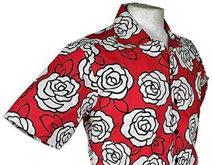Chenaski Manga Corta Rosa Roja Edición Limitada 1112 Camisa - Rojo, M: Amazon.es: Ropa y accesorios