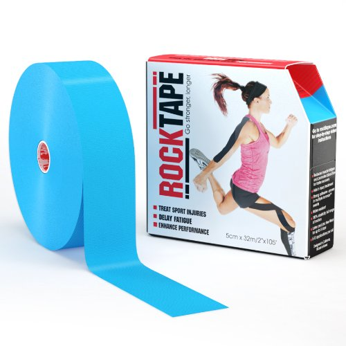 RockTape Uncut BULK Kinesiology Tape For Athletes - 2'' X 105' Roll - Light Blue by Rocktape
