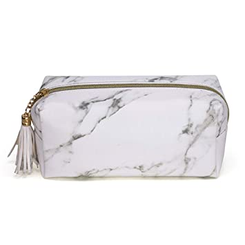 d3d4556d2836 Amazon.com : Huaxix Marble Zipper Tassel Purse Travel Makeup ...