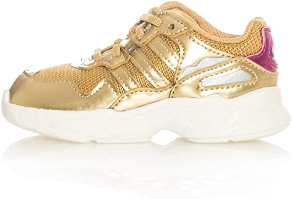 adidas Originals Girls Kids Yung-96 Metallic Trainers Sneakers Shoes - Gold