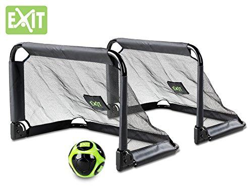 Exit Pico Fußballtor 2er Set zusammenfaltbar - Fussballtor für den Garten auch für Eishockey
