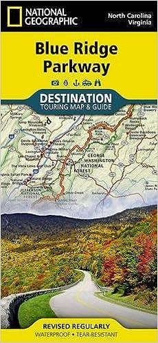 Blue Ridge Parkway Usa National Geographic Destination Map