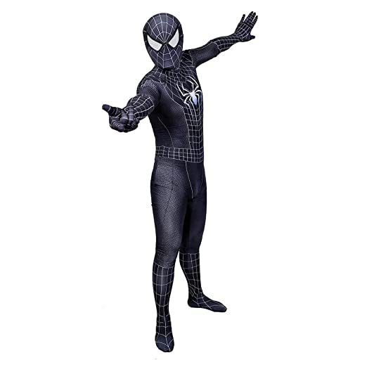 WEDSGTV Morphsuit Costume 3D Impreso Spider Pattern Cosplay ...