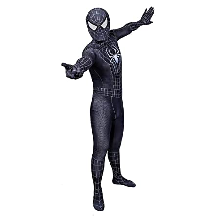 WEDSGTV Morphsuit Costume 3D Impreso Spider Pattern Cosplay ...