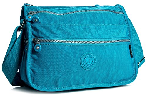 Blue Small Lightweight Shoulder Fabric Sky Messenger Bag Zip Pockets Handbag Body Shop Big Medium Cross Womens wY0xZ7q4