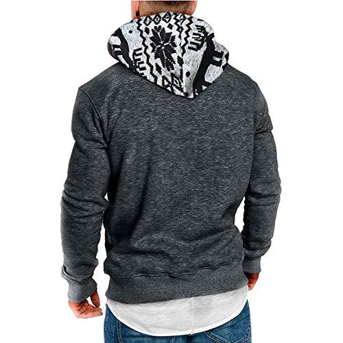 Gris À Hommes 1 Pour Longues Capuche Décontracté Sweatshirt Ihengh Manches B8qHw6x