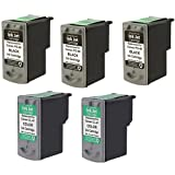 Amsahr PG40 Remanufactured Replacement Canon Ink Cartridges for Select Printers/Faxes - 3 Black/2 Color