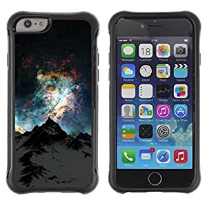 KROKK CASE Apple Iphone 6 - mountain Alaska universe sky stars Everest - Rugged Armor Slim Protection Case Cover Shell wangjiang maoyi