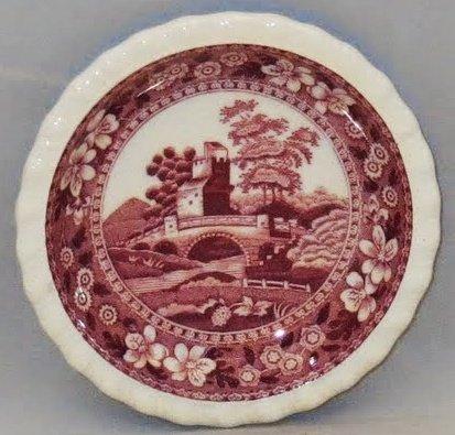 Spode Tower-Pink (Older Backstamp) Butter -