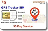 GSM SIM Card for GPS Trackers - Pet Kid Senior Vehicle Tracking Devices