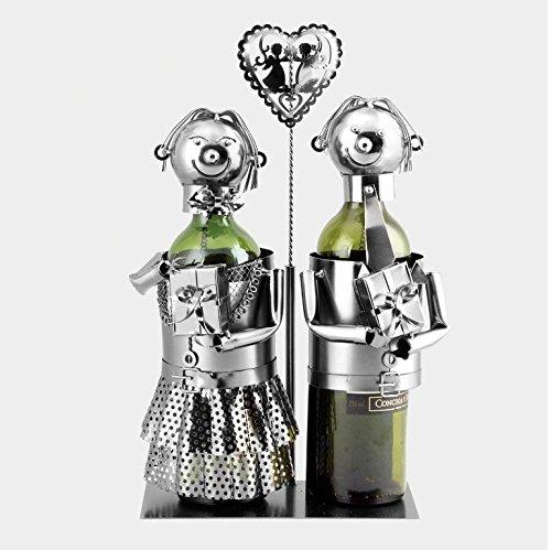 Snow Courage Metal Wine Caddy / Water Bottle Holder - Wedding (Metal Snow)