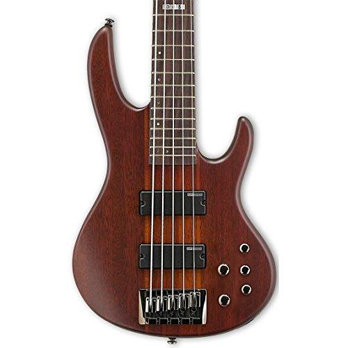 ESP LTD D-5 5-String Electric Bass Guitar, Natural Satin (Guitar Bass Natural Electric)