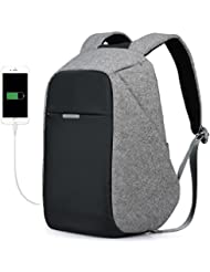 Anti-theft Travel Business Backpack Student Book Laptop Bag With USB Port For Daily Working School