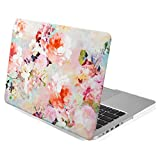 GMYLE Rubber Coated Frosted Hard Shell Case Cover Print for MacBook Pro 13 inch with Retina display (Model: A1425 & A1502) - Vintage Flower Pattern (Not fit for MacBook Pro 13)