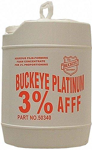 Buckeye 50340 BFC-3 Aqueous Film Forming Foam Concentrate (3% AFFF), Platinum, 5 gal Pail Afff Foam Fire Extinguisher