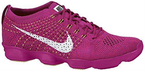 Nike Womens Flyknit Zoom Agility Fireberry / Hyper Punch / Raspberry / White SZ: 10,5