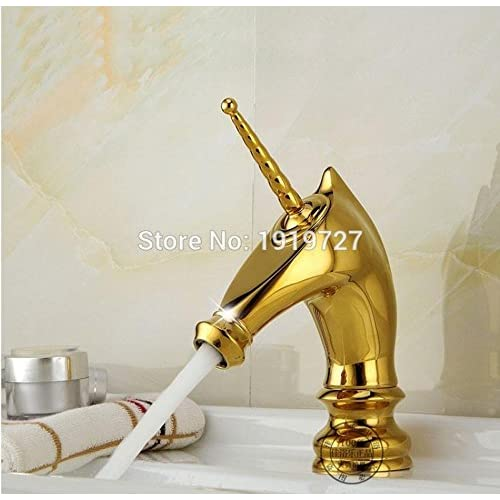 hot sale PST@ 100% Solid Brass Unique Style Newest Classic Design Deck Mount Faucet Bathroom Basin Mixer Tap Bathroom Horsehead