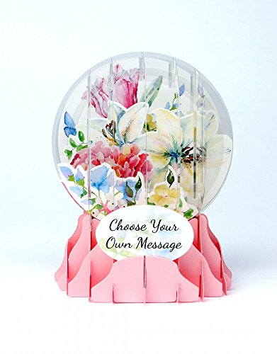 - 3D Snow Globe - Watercolor Bouquet - All Occasion Card