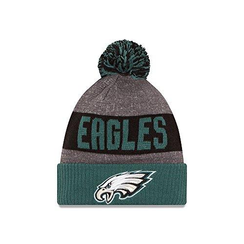 (New Era Men's Philadelphia Eagles 2016 Sideline Sport Knit Hat Heather Grey Size One Size)