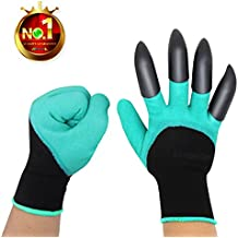 Sturdy Claws Garden Genie Gloves with Fingertips Unisex Right Hand Claws Quick Easy to Dig and Plant Waterproof Gardening Tools - As Seen On TV ( Right Hand Claw 1 pair)