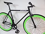 Matte Black and Lime Green Fixie Single Speed Fixie Bike with Flip Flop Hub By Sgvbicycles Fixies