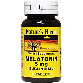 Natures Blend Melatonin 5 mg Sublingual Tablets 60 CT (PACK OF 4)