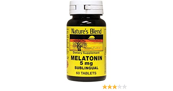 Amazon.com: Natures Blend Melatonin 5 mg Sublingual Tablets 60 CT (PACK OF 4): Health & Personal Care