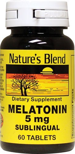 Natures Blend Melatonin 5 mg Sublingual Tablets 60 CT (PACK OF ...