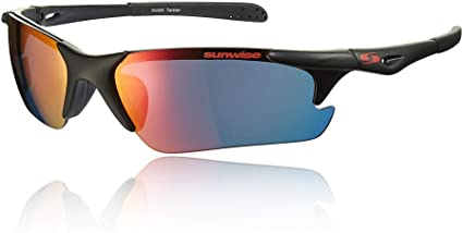 Sunwise Unisex Breakout Sunglasses Black Sports Running Water Resistant