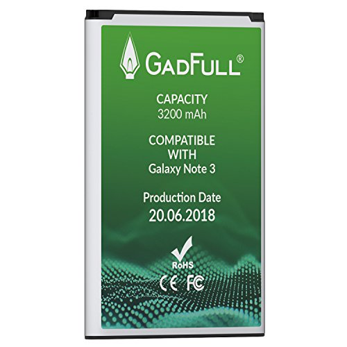 GadFull Battery for Samsung Galaxy Note 3 | Production date 2018 | Corresponds to the original EB-B800BE | Smartphone model GT-N9000 | GT-N9005 | GT-N 9006 | GT-N9009 | replacement battery by GadFull (Image #4)