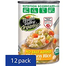 Health Valley Organic No Salt Added Soup, Chicken Rice, 15 Ounce (Pack of 12)