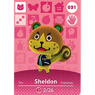 Animal Crossing Happy Home Designer Amiibo Card Sheldon 031/100: Toys & Games