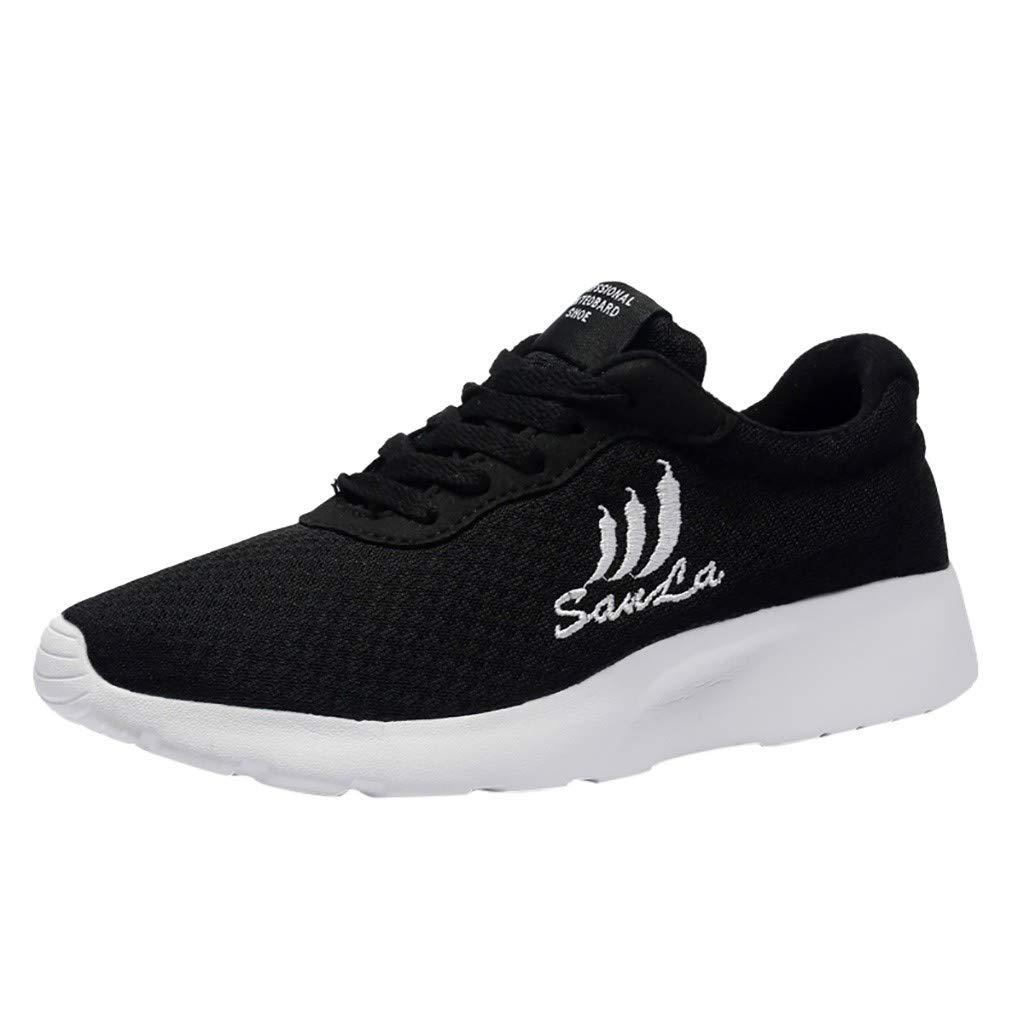 Nevera Womens Walking Shoes Mesh Breathable Lightweight Slip On Sneakers Black