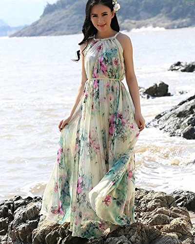 Medeshe Women's Summer Floral Long Beach Maxi Dress Lightweight ...