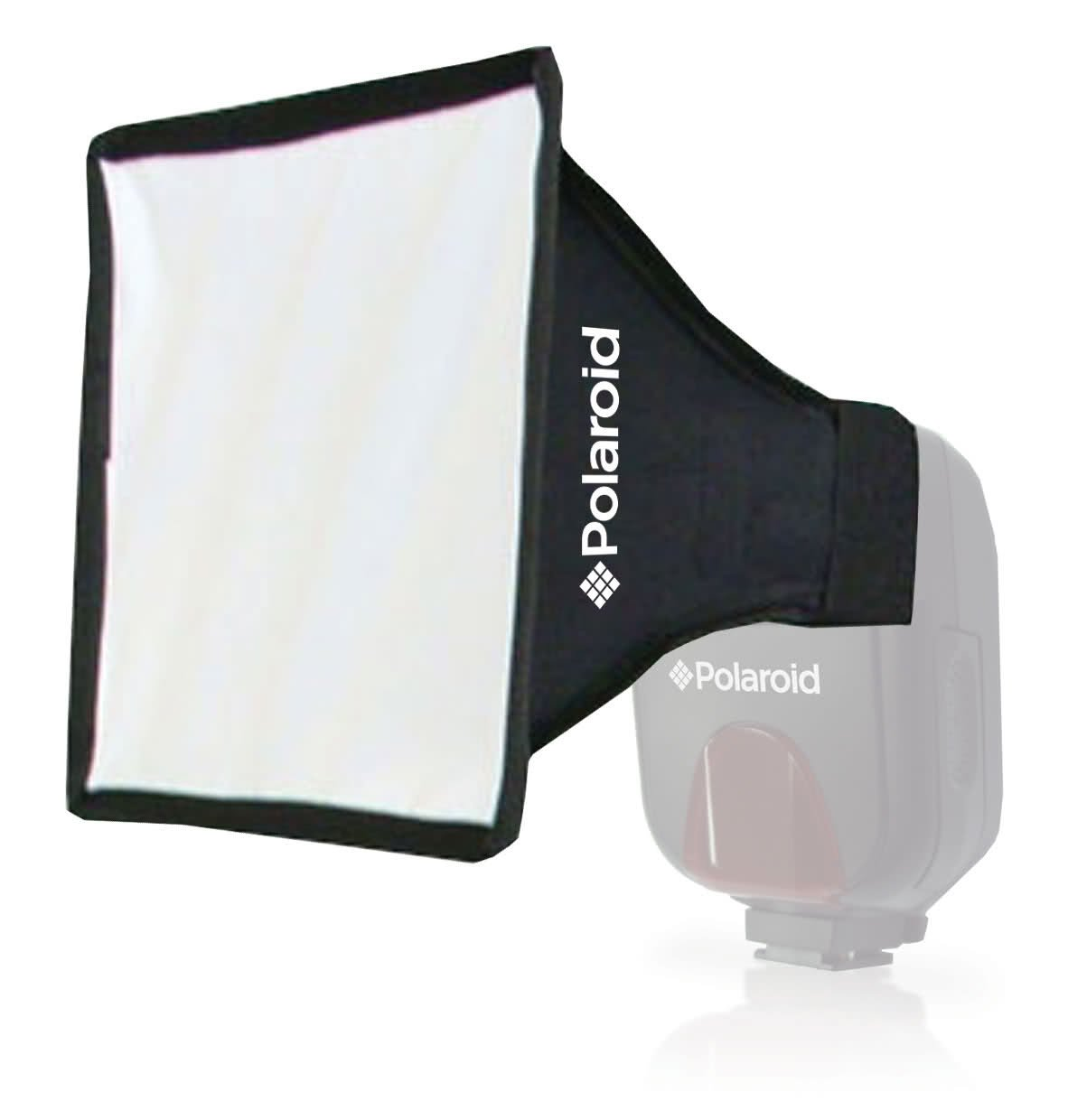 Polaroid Universal Studio Soft Box Flash Diffuser (7'' x 6'' Screen) For The Nikon 1 J1, J2, J3, V1, V2, V3, S1, D40, D40x, D50, D60, D70, D80, D90, D100, D200, D300, D3, D3S, D700, D3000, D5000, D3100, D3200, D3300, D7000, D5100, D4, D4s, D800, D800E, D600
