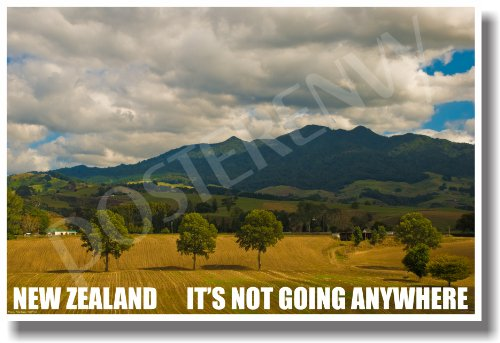 New Zealand - Its Not Going Anywhere - NEW World Travel Poster