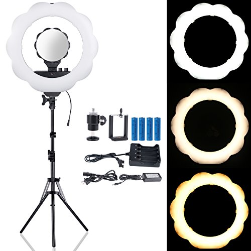 B-Land 18-Inch Dimmable LED Ring Light (48W 6000K) with 70.5