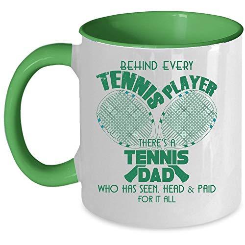 Cool Dad Coffee Mug, Behind Every Tennis Player There's A Tennis Dad Accent Mug (Accent Mug - Blue) - Mug 11 oz accent mug - green
