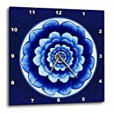 3dRose dpp_31753_2 Pastel Blue and Cobalt Fantasy Mandala Flower on Royal Blue Background-Wall Clock, 13 By 13-Inch Review