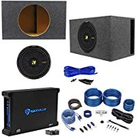 KICKER 44CWCD154 CompC 15 1200 Watt Car Subwoofer+Amplifier+Vented Box+Amp Kit