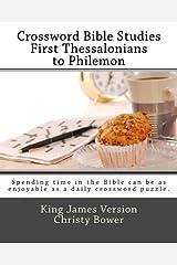 Crossword Bible Studies - First Thessalonians to Philemon: King James Version Paperback