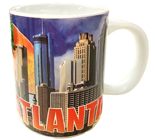 (Atlanta Georgia 11 ounce Skyline Souvenir Coffee Mug Featuring the Georgia)