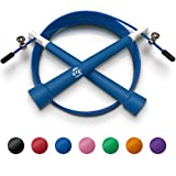 Plastic Fitness Jumprope with Adjustable 11 Foot Cable , Carrying Bag...