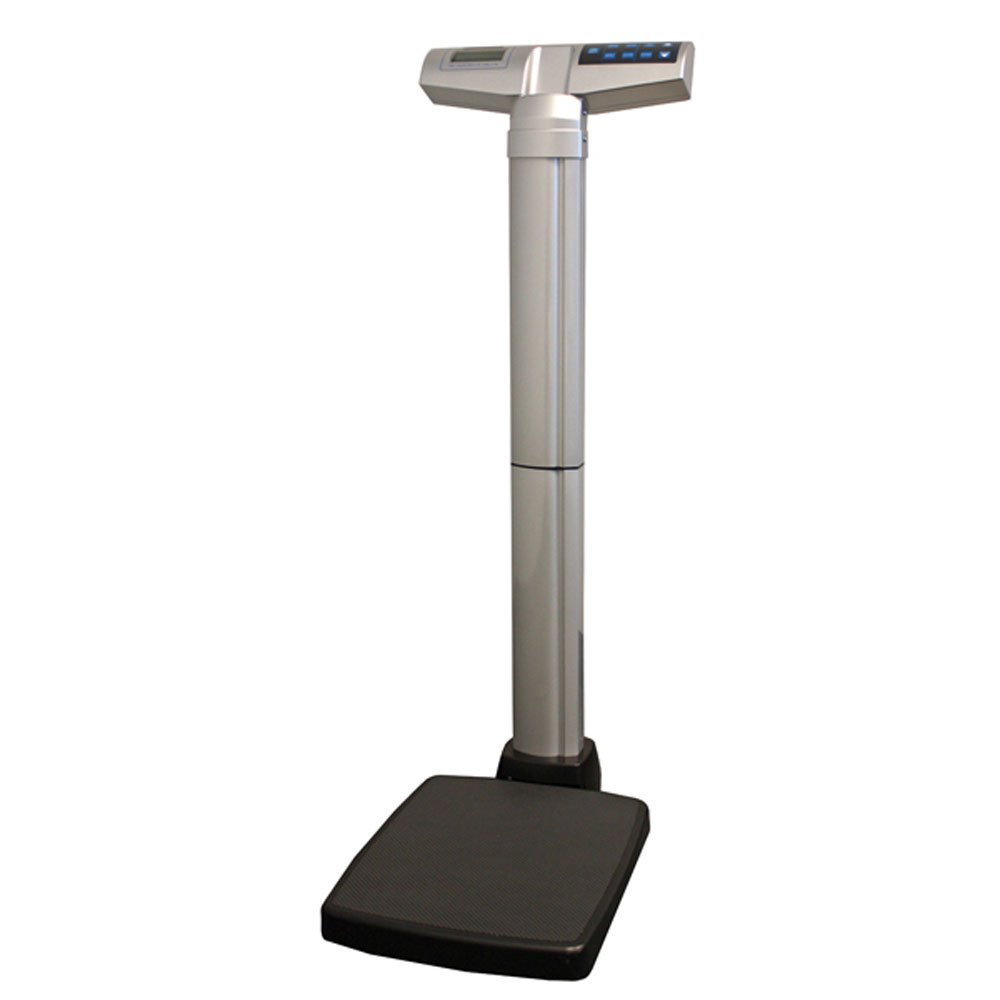Health-O-Meter Digital Professional Waist High Beam Scale, Silver