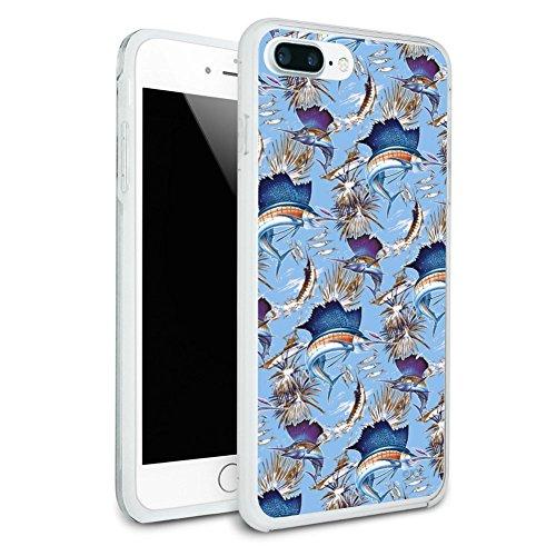 Sailfish Marlin Deep Sea Sport Fishing Protective Slim Fit Hybrid Rubber Bumper Case for Apple iPhone 7 (Sailfish Marlin)