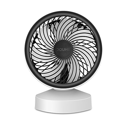 DOUHE Desk Fan, Mini USB Personal Fan, Compact Size,7 Blades Powerful Wind, Low Noise, Rated Speed for PC Computer Laptop Chormebook Ultrabook