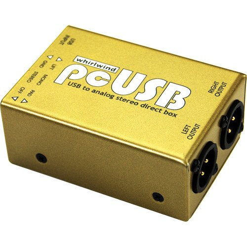 Whirlwind pcUSB Computer Audio USB Interface, 2x Balanced XLR-3M Input Connectors, Mono and Stereo Switch
