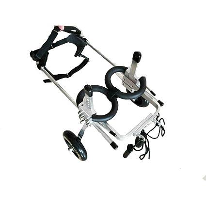 chongwubao Silla de ruedas para perros, robusto espacio de aleación de aluminio ligero patas traseras