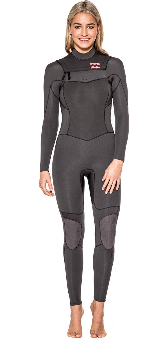 2016 Billabong Ladies Synergy 3/2mm Chest Zip Wetsuit in OFF BLACK U43G03